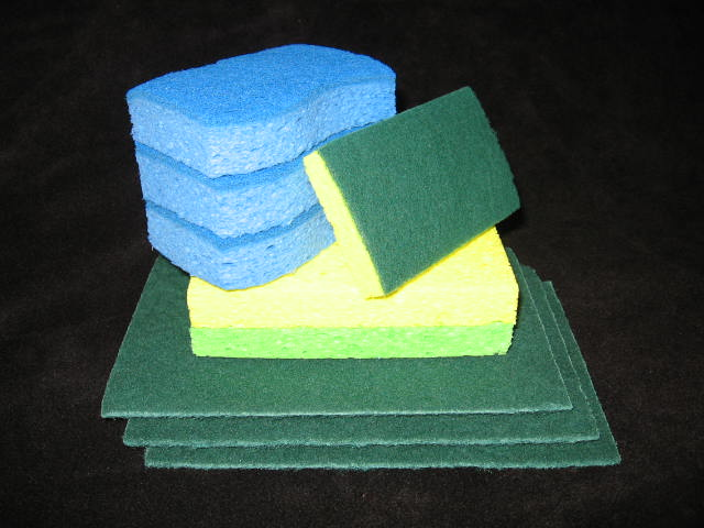 Scrub and Scouring Sponges Kit (Bundle)